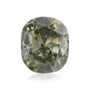 Fancy Dark Gray Yellowish Green Diamond