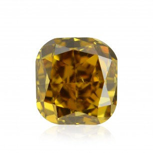 Fancy Deep Brownish Orangy Yellow Diamond