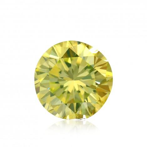 0 34 Carat Fancy Intense Green Yellow Diamond Round