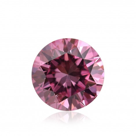 0.35 carat, Fancy Vivid Purple Pink, Round Shape, SI2 Clarity, GIA, SKU 194579