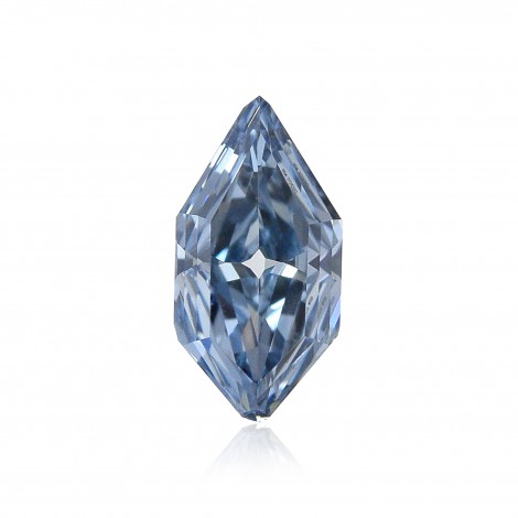 0.51 carat, Fancy Vivid Blue, Lozenge Shape, VVS2 Clarity, GIA, SKU 171853