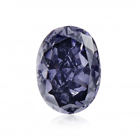 1.00 carat, Fancy Deep Violetish Blue, Oval Shape, SI1 Clarity, GIA, SKU 170113