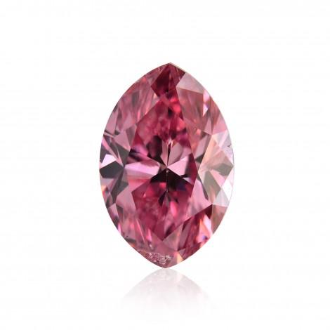 0.50 carat, Fancy Vivid Purplish Pink Diamond, Marquise Shape, (I1) Clarity, GIA