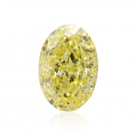 5.54 carat, Fancy Yellow Diamond, Oval Shape, FL Clarity, GIA