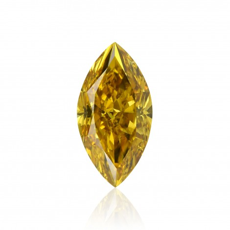 Fancy Deep Brownish Orangy Yellow Diamond