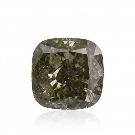 Fancy Deep Gray Yellowish Green Diamond