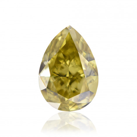 Fancy Deep Brownish Greenish Yellow Diamond