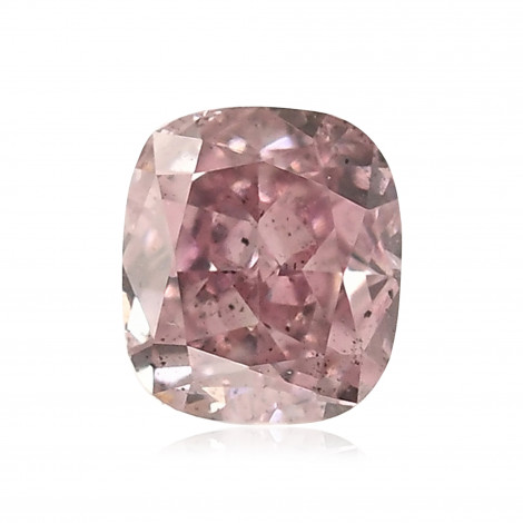 0 19 Carat Fancy Intense Purple Pink Diamond Cushion