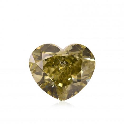 Fancy Deep Greenish Chameleon Diamond