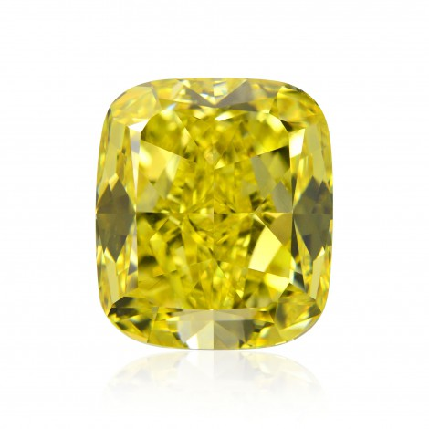 2.39 carat, Fancy Vivid Yellow, Cushion Shape, IF Clarity, GIA, SKU 255488