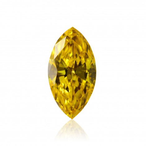 0.27 carat, Fancy Vivid Orangy Yellow Diamond, Marquise Shape, (I1) Clarity, GIA