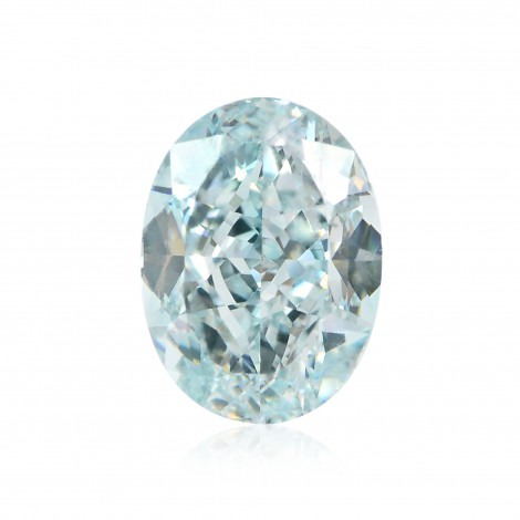 2.15 carat, Fancy Greenish Blue Diamond, Oval Shape, VS2 Clarity, GIA