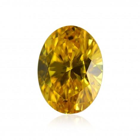 0.22 carat, Fancy Vivid Orangy Yellow Diamond, Oval Shape, VS1 Clarity, IGI