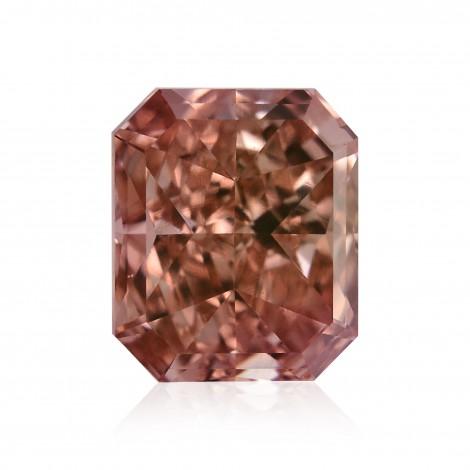 0.50 carat, Fancy Intense Orangy Pink Diamond, Radiant Shape, VS2 Clarity, GIA