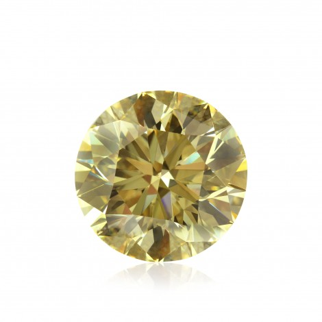 10.17 carat, Fancy Brownish Yellow Diamond, Round Shape, SI1 Clarity, GIA