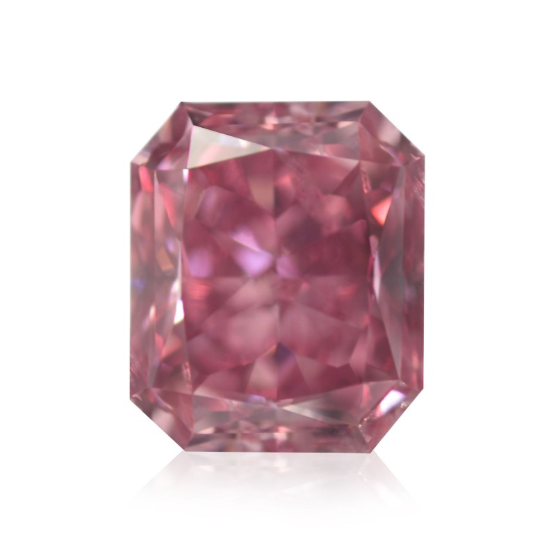 1.00 carat, Fancy Vivid Pink, Radiant Shape, SI2 Clarity, GIA, SKU 135737