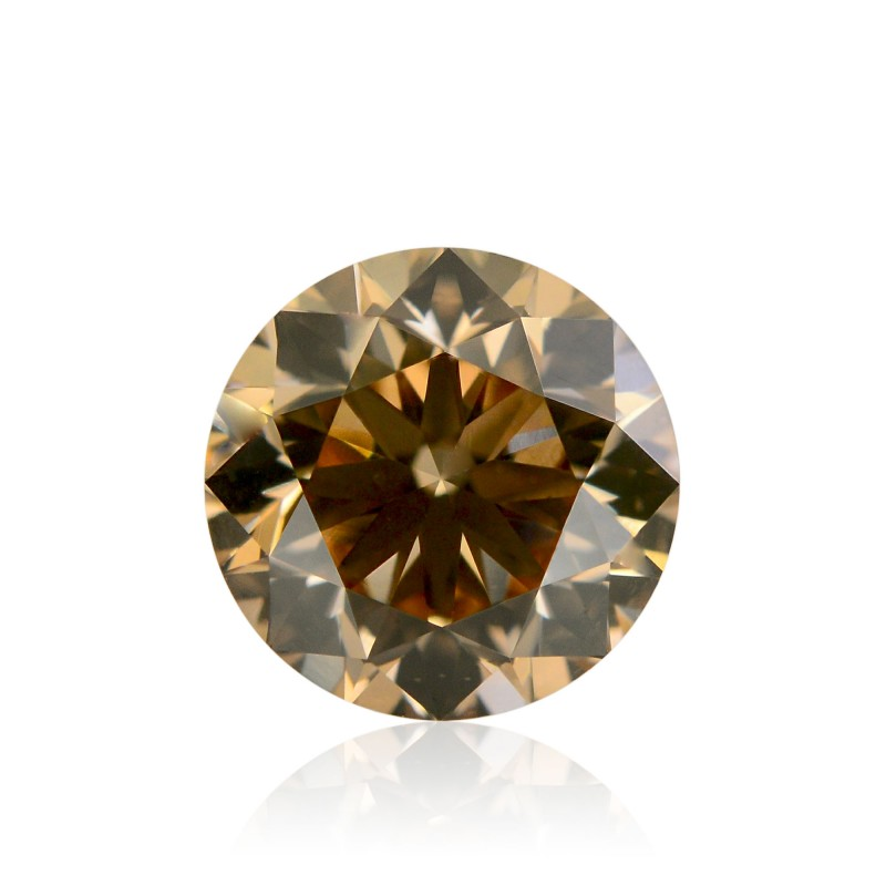 0 92 Carat Fancy Yellowish Brown Diamond Round Shape