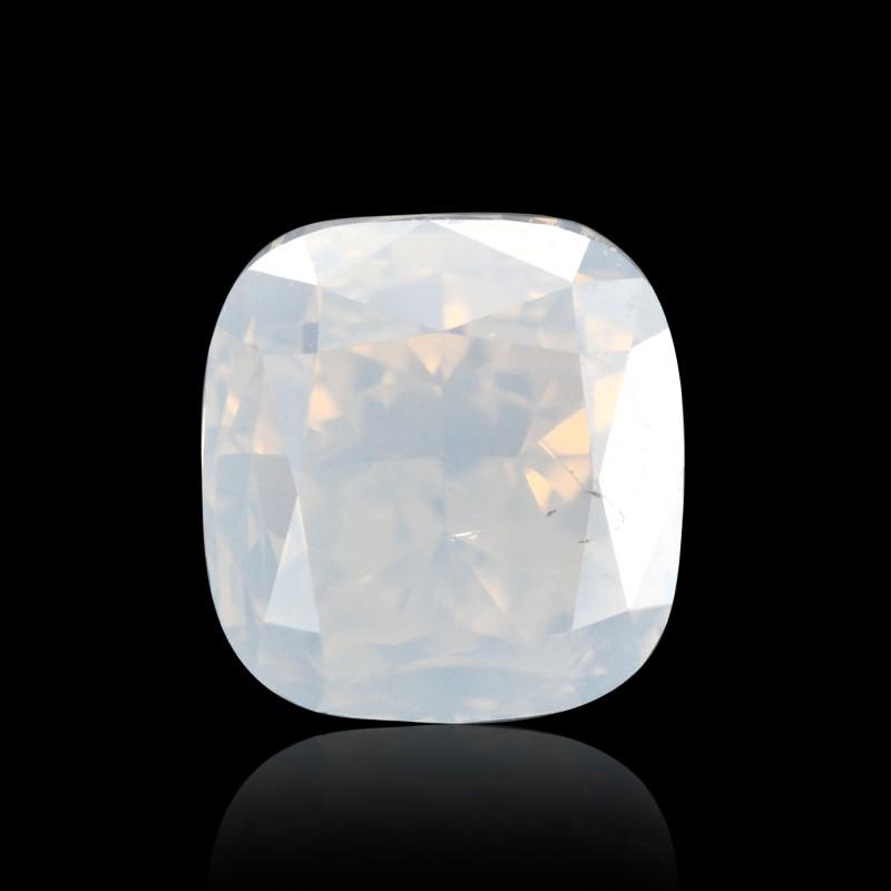 0 75 Carat Fancy White Diamond Cushion Shape I3 Clarity