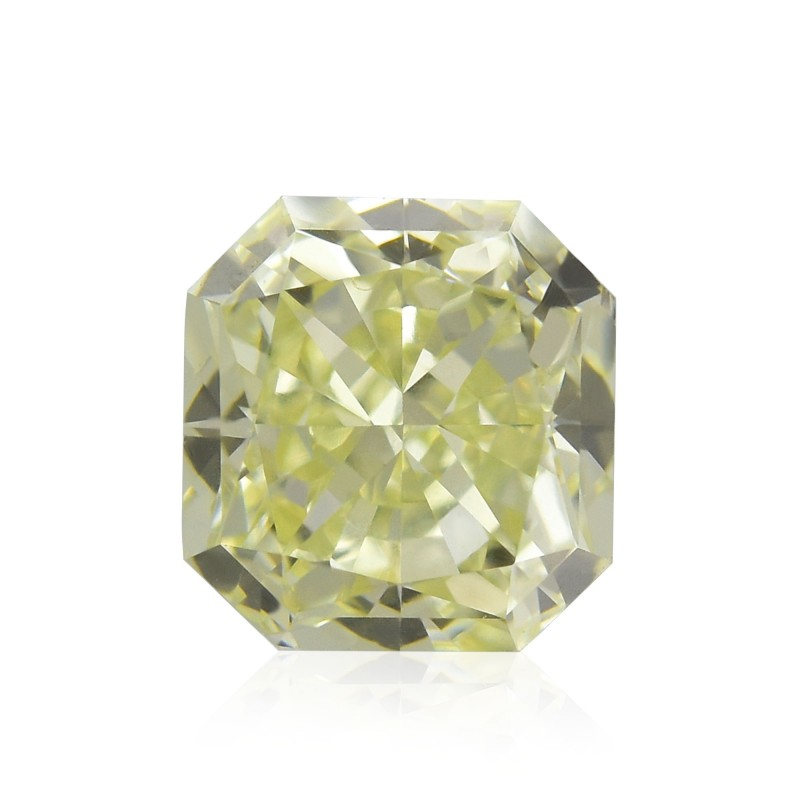 0.65 carat, S-T, Light Yellow Diamond, Radiant Shape, VS1 Clarity ...