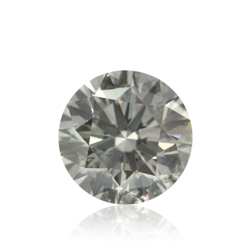 1 26 Carat Fancy Gray Diamond Round Shape Si2 Clarity