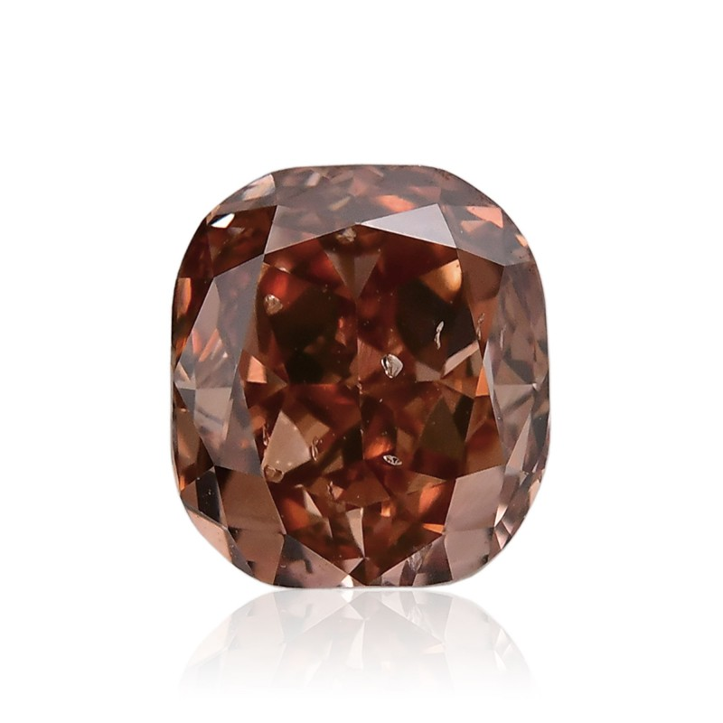 0 68 Carat Fancy Deep Pink Brown Diamond Cushion Shape
