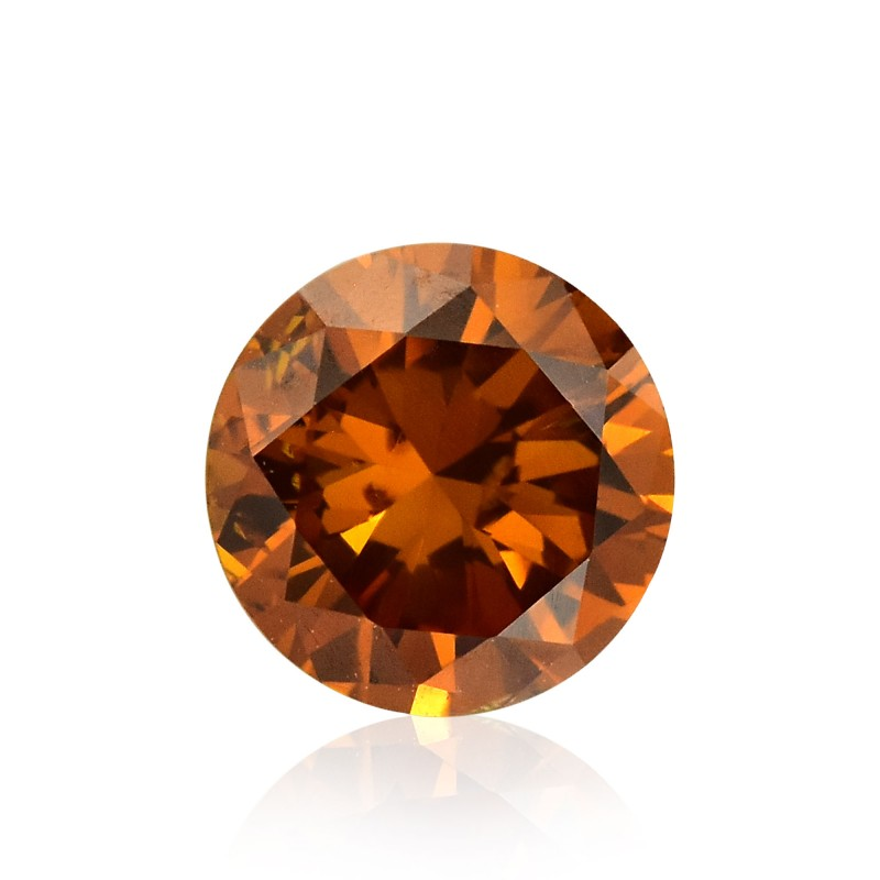 0 49 Carat Fancy Deep Orange Diamond Round Shape I1