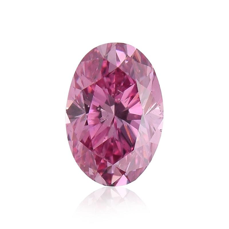 0 43 Carat Fancy Vivid Purplish Pink Diamond 3pp Oval