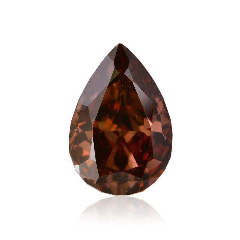 0 46 Carat Fancy Deep Brown Pink Diamond Pear Shape Si1