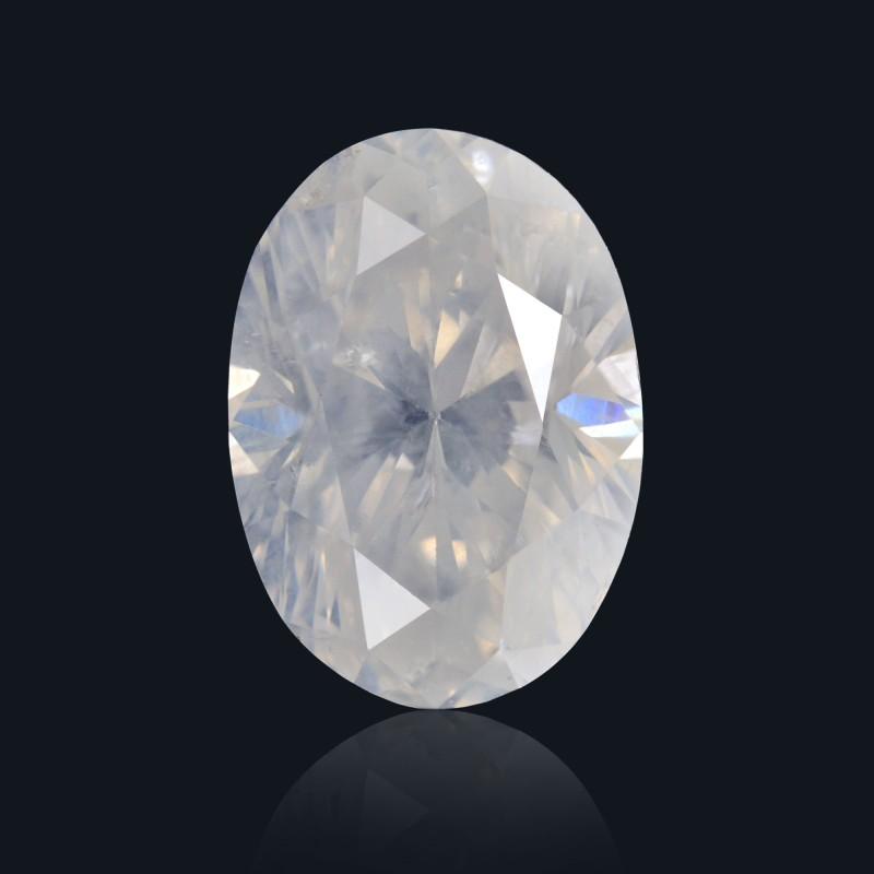 White Oval Diamond