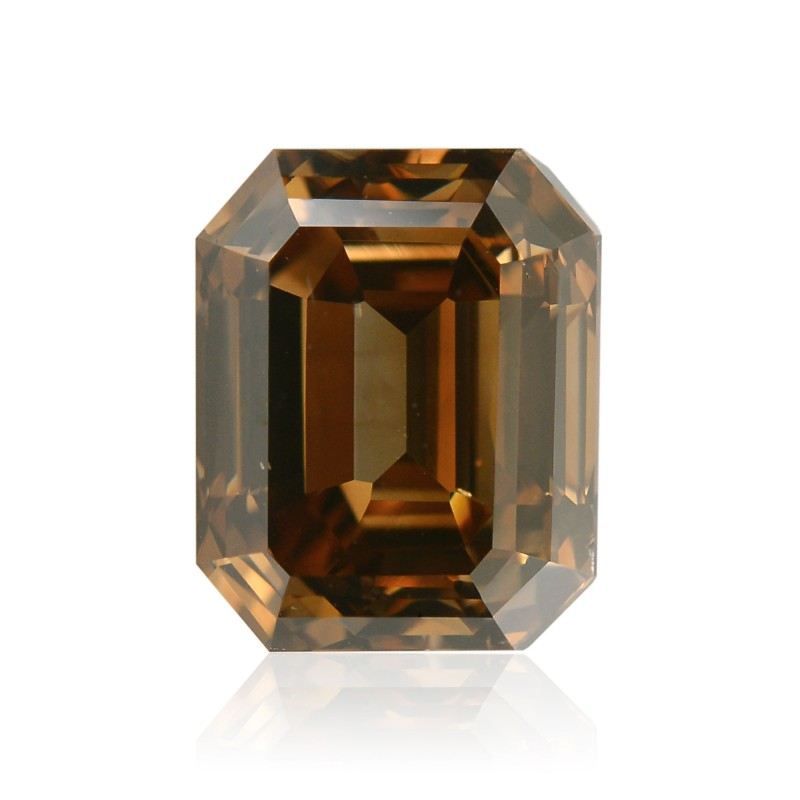 Fancy Dark Orangy Champagne Diamond