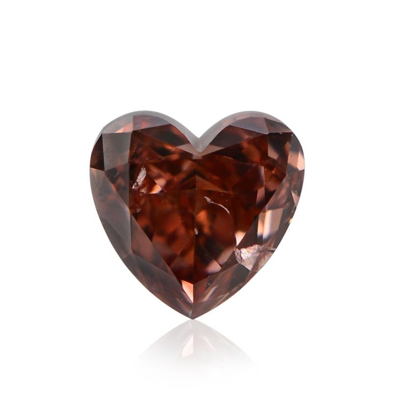 0 19 Carat Fancy Deep Orangy Pink Diamond Heart Shape