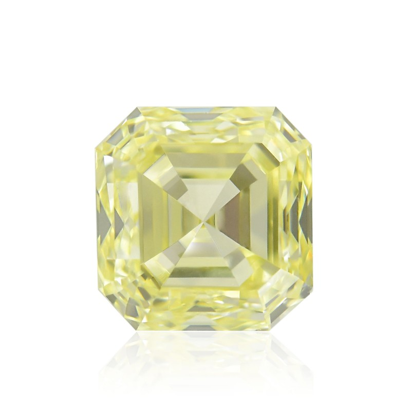 Yellow Asscher Diamond