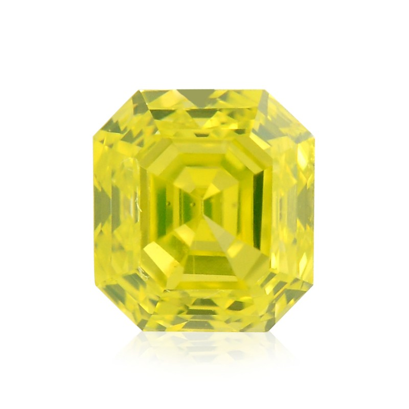 Fancy Vivid Greenish Yellow Diamond