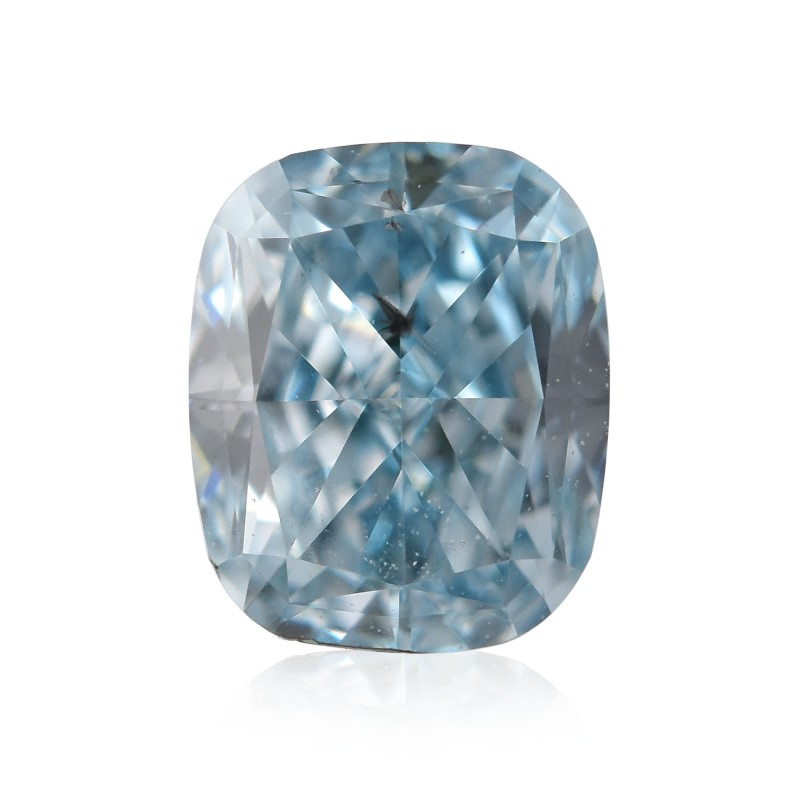 Blue Cushion Diamond