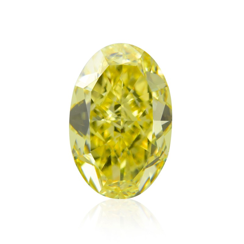 Yellow Oval Diamond