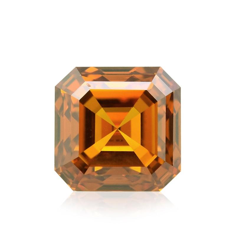 Orange Asscher Diamond