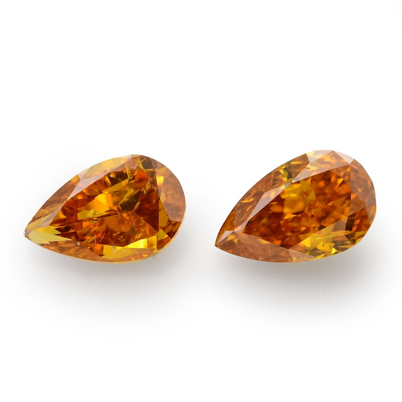 Orange Pear Diamond