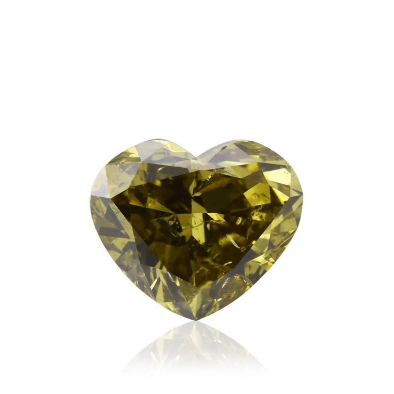 Fancy Dark Gray Greenish Chameleon Diamond