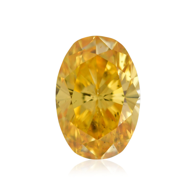 Fancy Intense Orangy Yellow Diamond