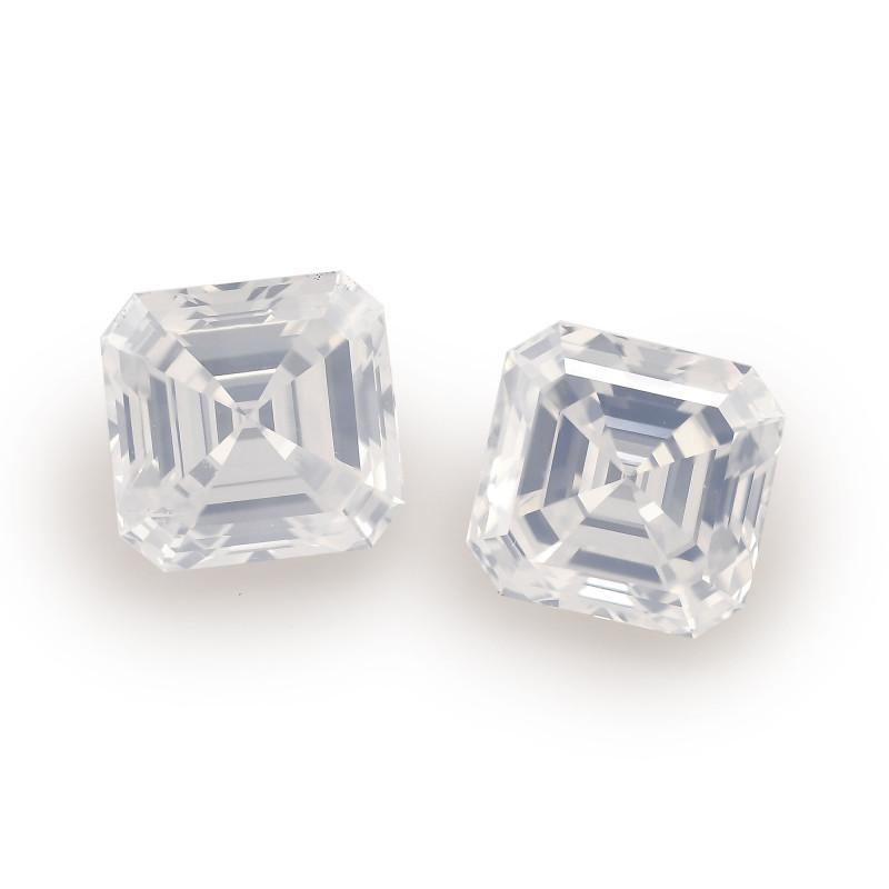 White Asscher Diamond