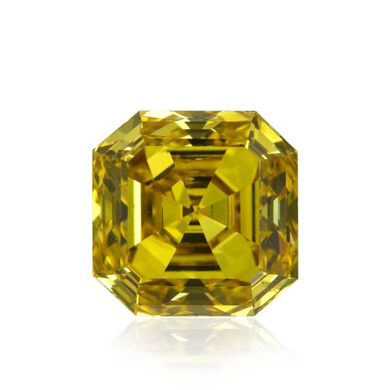 Yellow Asscher Diamond
