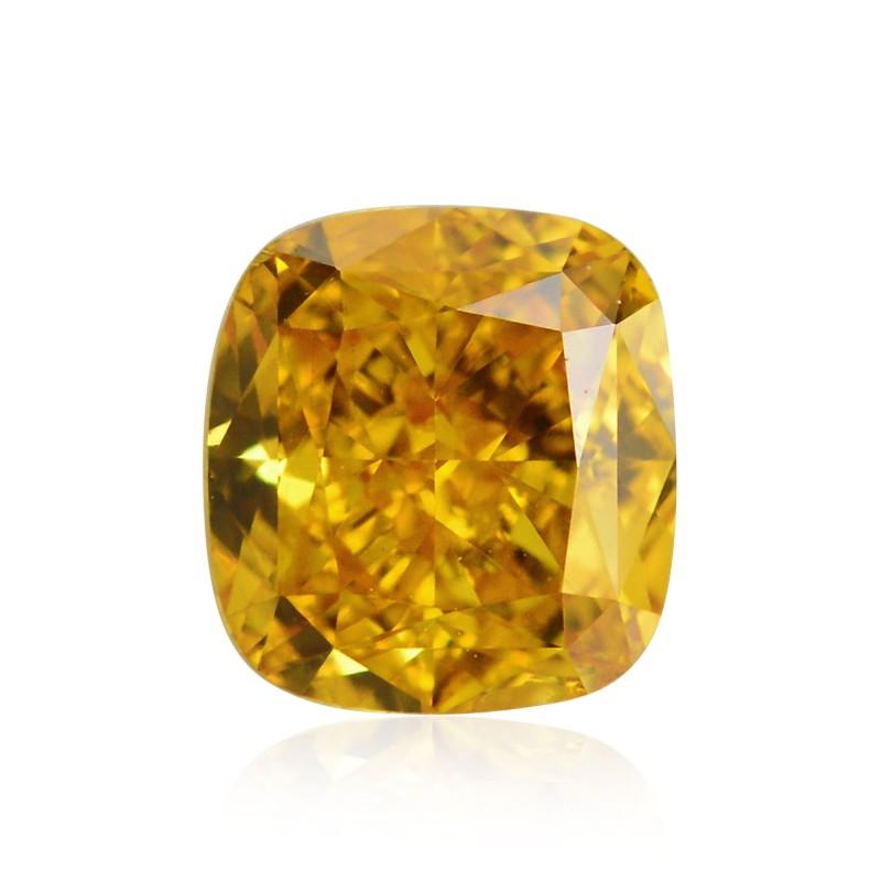 Orange Cushion Diamond
