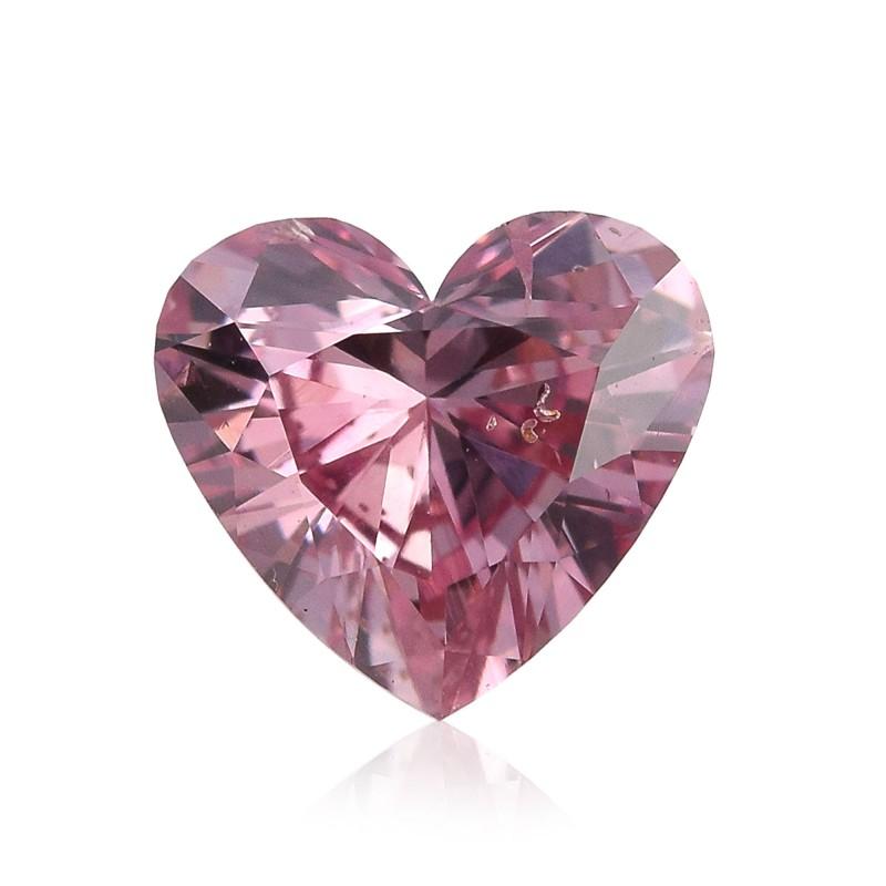 0 64 Carat Fancy Intense Pink Diamond Heart Shape Si2