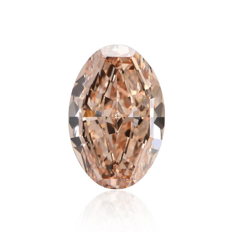 6 71 Carat Fancy Brown Orange Diamond Oval Shape Vs2