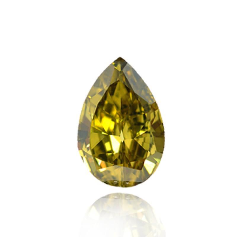 Fancy Deep Grayish Greenish Yellow Diamond