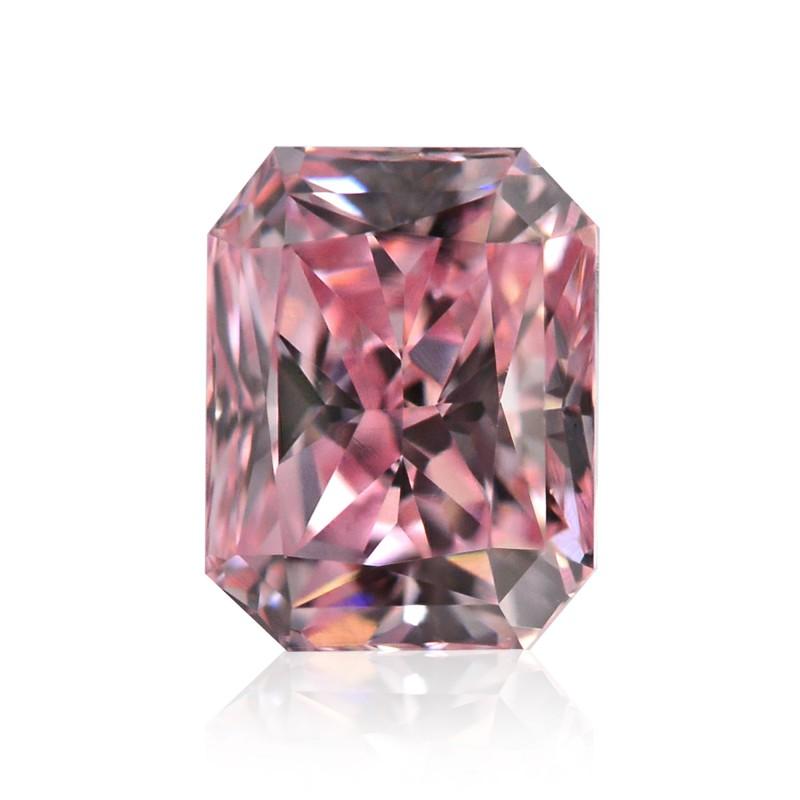 0.27 carat, Fancy Intense Pink Diamond, Radiant Shape ...