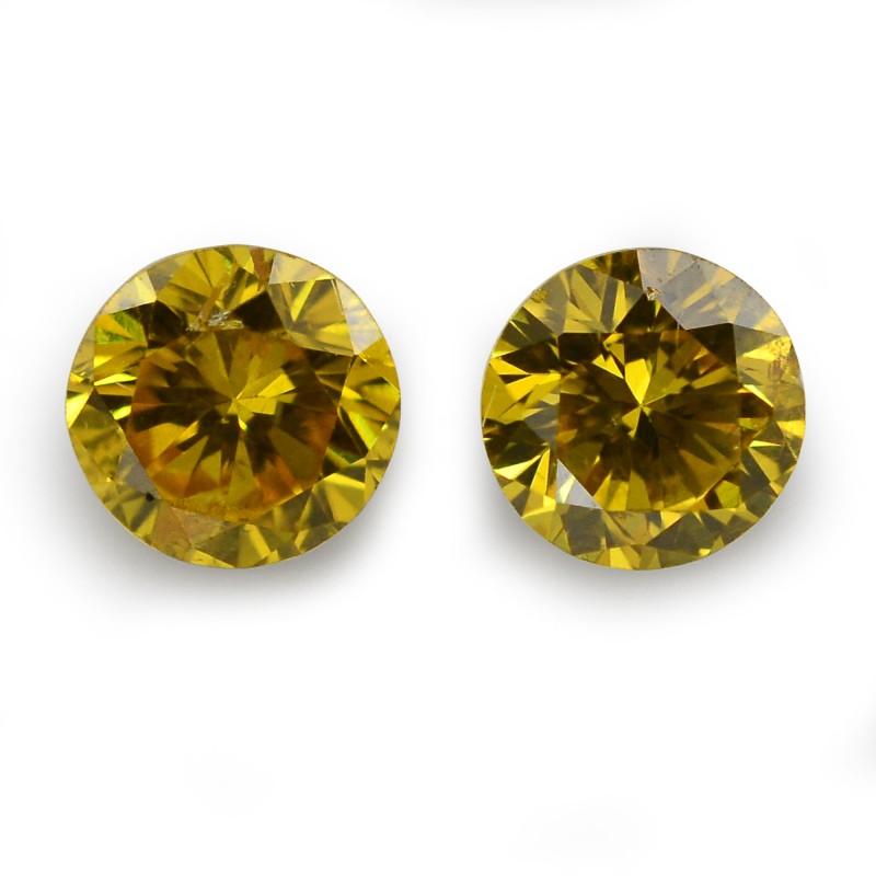 Yellow Round Diamond