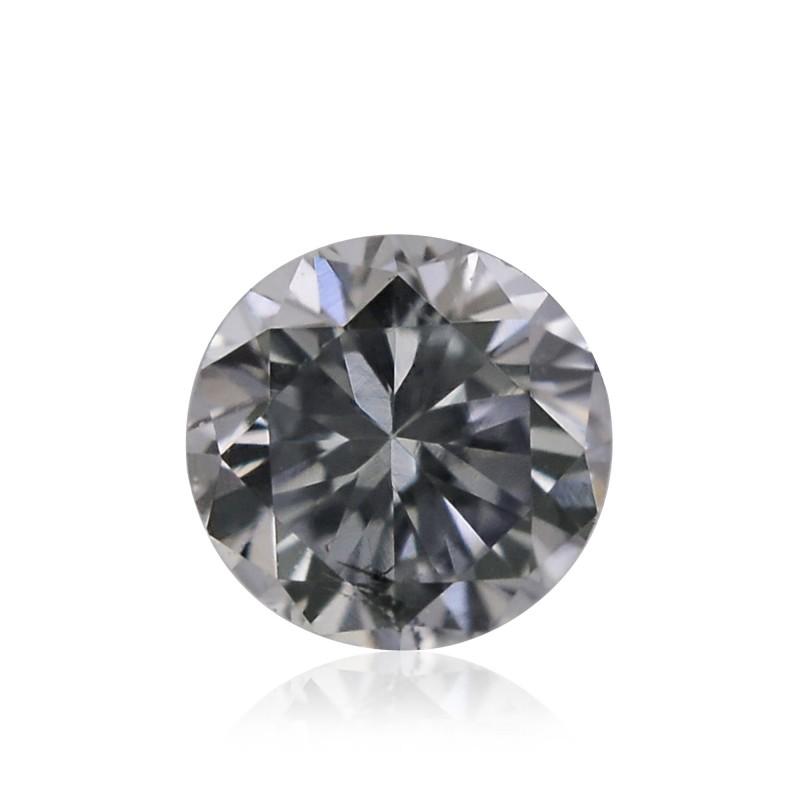 0 10 Carat Fancy Light Gray Diamond Round Shape Vs1