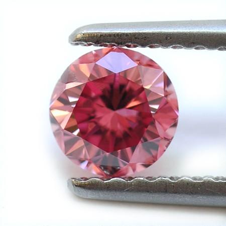 0.50 carat, Fancy Intense Purplish Pink-Argyle, Round Shape, SI2 Clarity, GIA & ARGYLE, SKU PLB279