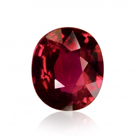 1 48 Carat Red Mozambique Ruby Oval Shape No Evidence